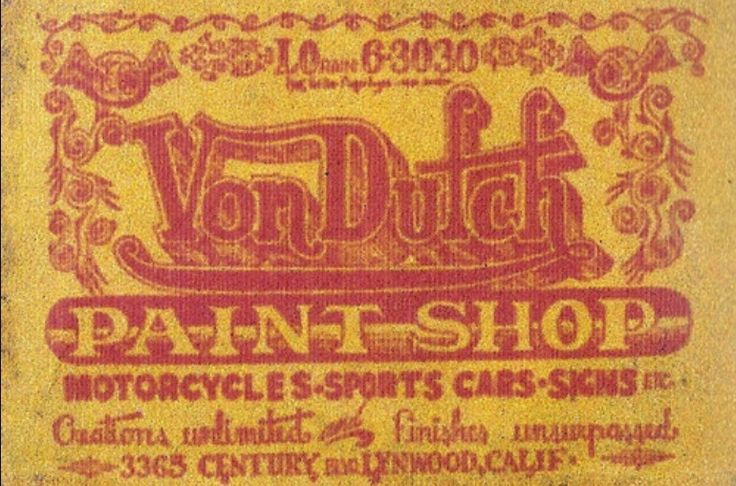 Original Von Dutch business card -