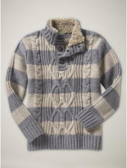 <3 Dad can coordinate easily with his little boy in this sweater.. Mom can wear pink and a similar grey or purple and grey.