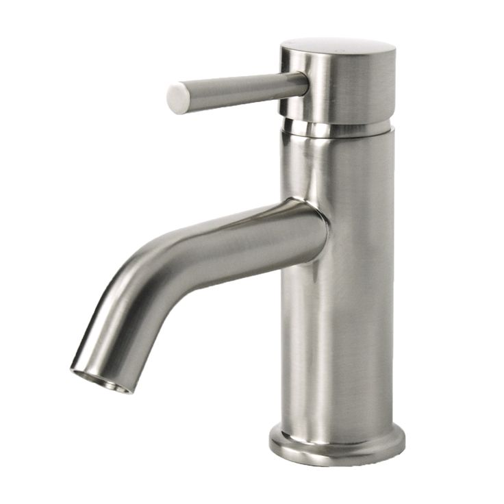 European Brushed Nickel Single Hole Bathroom Faucet Overstock.com