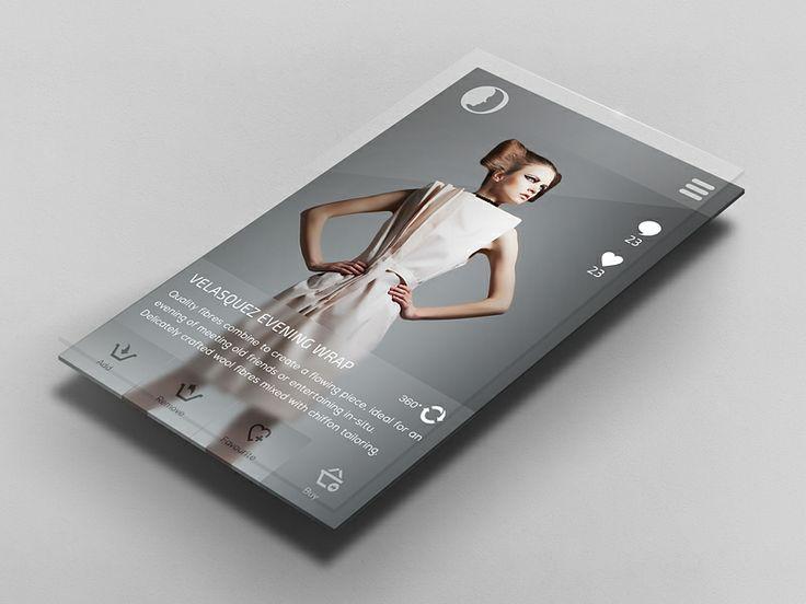 Fashion App UI - by Christian Shannon | #ui