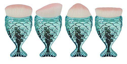 Joyful 4PCS Fish Makeup Brush Women Cosmetic Foundation P...