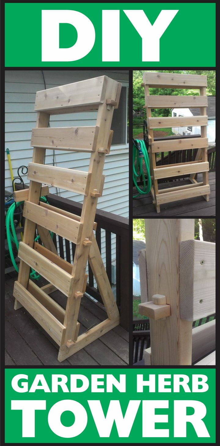 Vertical Pallet herb garden tower that saves you a lot of space and lowers your carbon footprint!