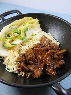 Bulgogi de poulet sauce Gochulang et kimchi (accompagnement shirataki de Konjac) - Audrey Cuisine