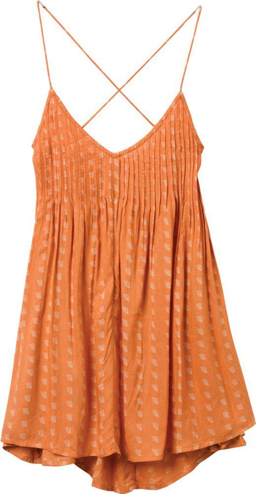 spaghetti strap dress with pintuck bodice (Told Secrets Dress | RVCA)