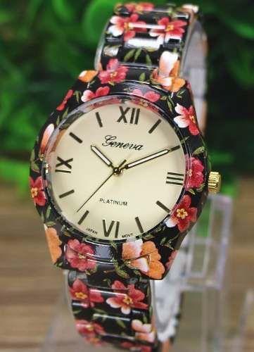 reloj dama mujer fashion de ultima moda, geneva 3 estilos