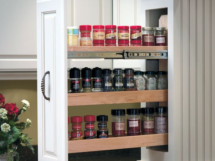 Pull out spice rack! It would be great to have one on each side of your stove!