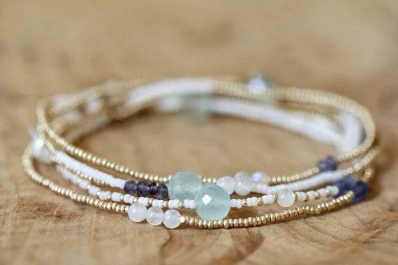 Beaded Wrap Bracelet Seed Bead Jewelry Beaded by GummyRubyJewelry, $40.00