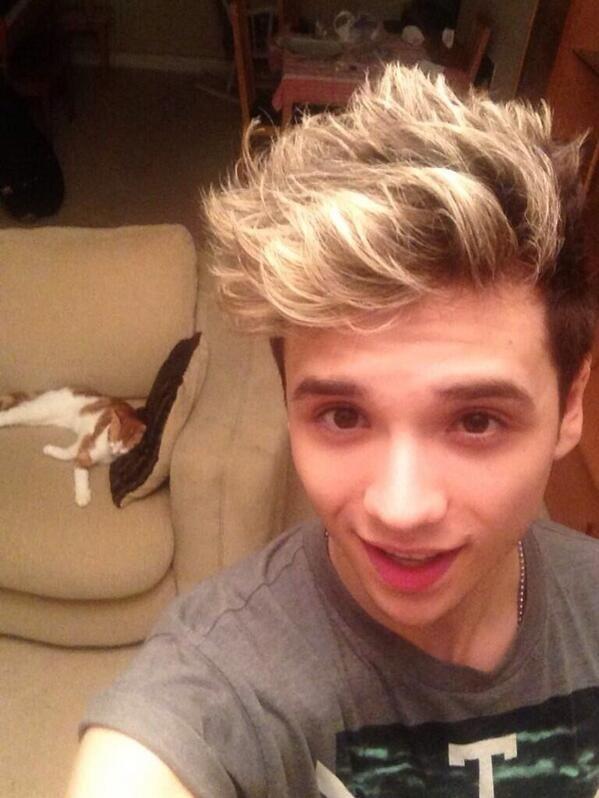 His hair...