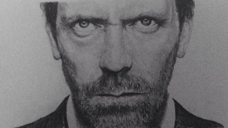 An old drawing from photo ref of Hugh Laurie from House...