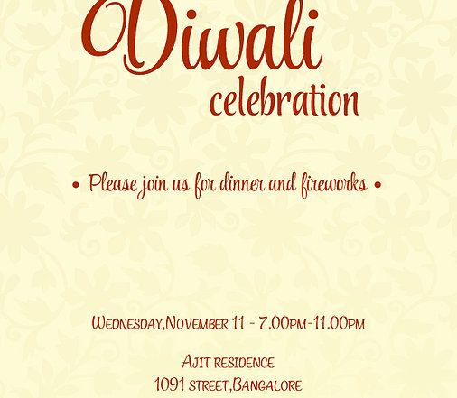 11 best images about Free Diwali Invitation Cards And Wording – Diwali Party Invitation