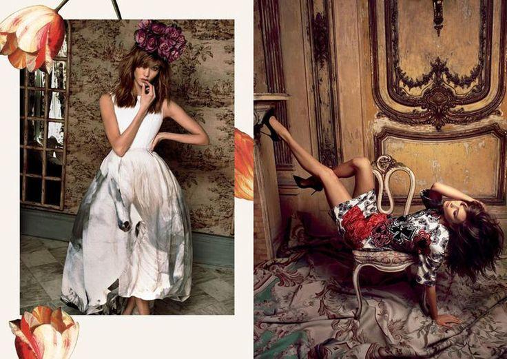 Karlie Kloss Is Lushly Botanical By Cedric Buchet for Moda Operandi