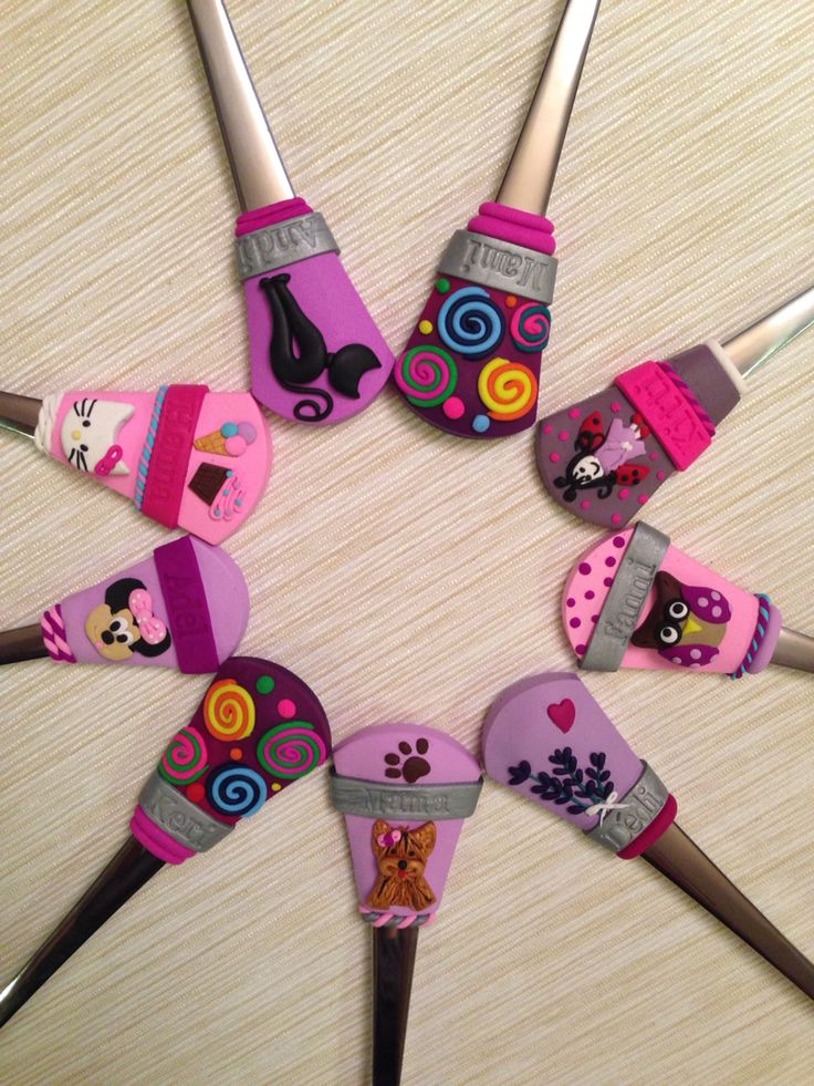 Polymer clay spoons, gifts