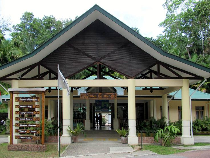 Visitors are managed at the entrance to the Valee de Mai Nature Reserve on Praslin Island, Seychelles, where an admission fee of US$20 per person is collected.