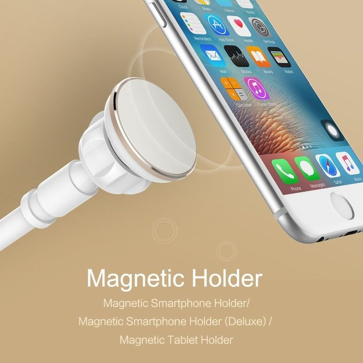 Luxury version Magnetic Phone Holder 360° Flexible Arm, IOS/Android #ROCK