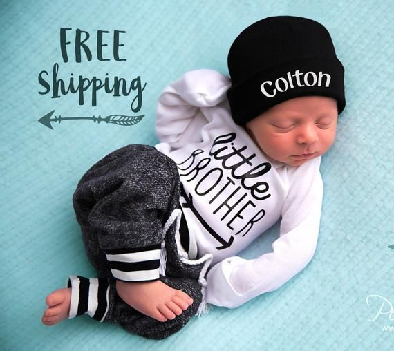 Personalised Prince Name Knotted Hat Custom Baby Gifts Girl Boy