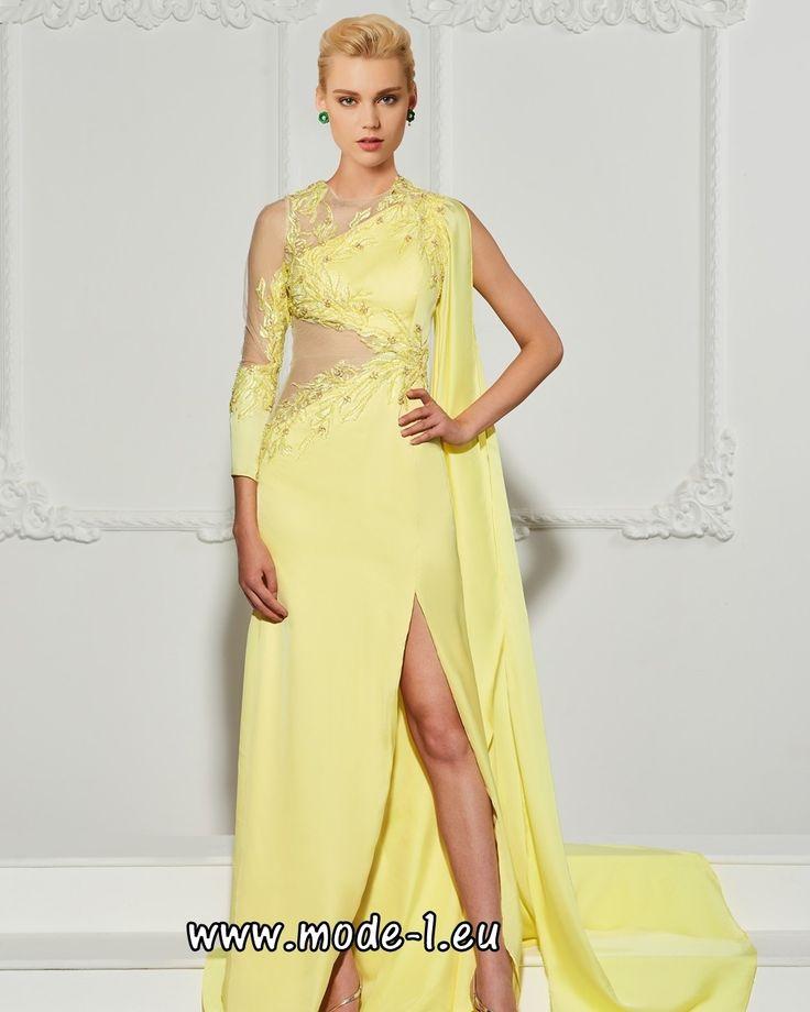Elegantes Abendkleid 2018 in Gelb