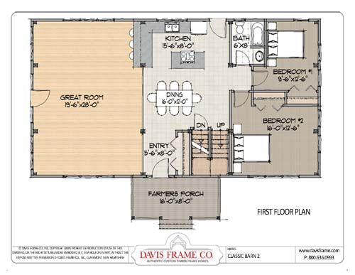 Barn Home 2 Floor Plan 1 Just Make Those 2 Bedrooms The