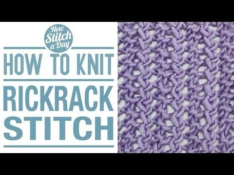 How to Knit the Rickrack Stitch (English Style)