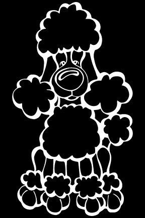 Poodle Decal Dog