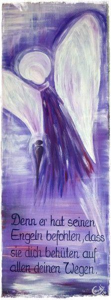 Acrylmalerei - Acrylbild Schutzengel - ein Designerstück von HOAMELIGundSCHEAN bei DaWanda