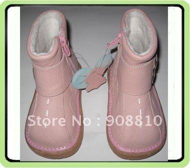 Детские мягкие кожаные ботинки розовые детские сапоги с пряжкой девушки молния новый розовый скидка