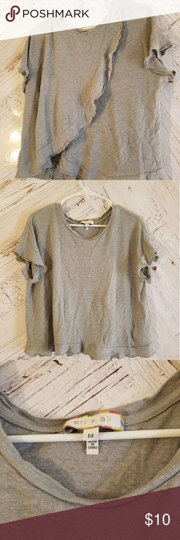 Anthropologie top Light blue/gray slouchy top from Anthropologie. Size medium. eri + ali Tops Tees - Short Sleeve