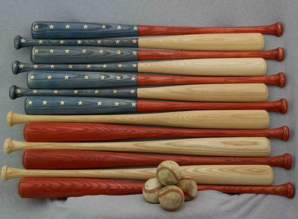 American Flags Made of Baseball Bats - Neatorama