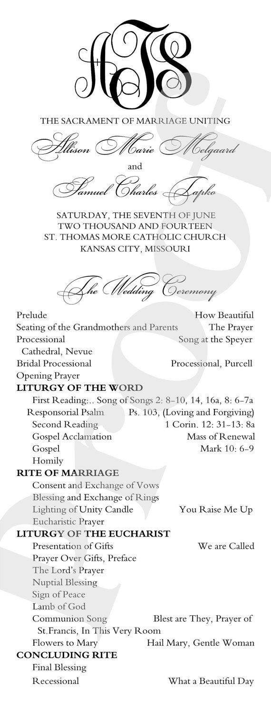 Printable DIY Wedding Programs Simple But by ImpressPapers