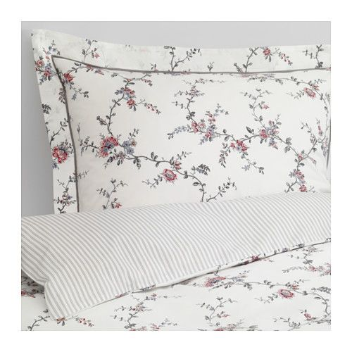 $49 STENÖRT Duvet cover and pillowcase(s) IKEA Feels crisp and cool against your skin as it's made of cotton percale, densely woven from fine yarn.