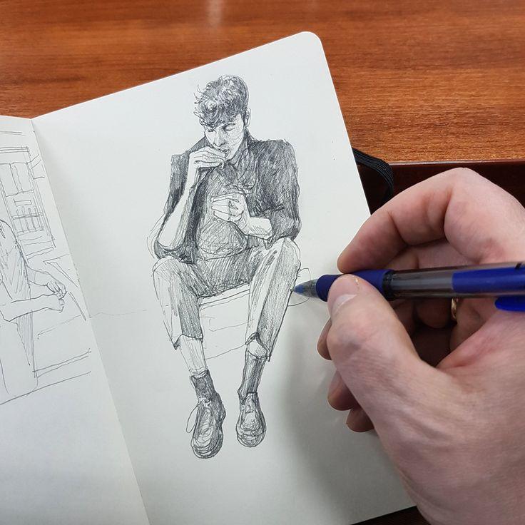 Небольшое упражнение с сигаретой | иллюстрации Павлика