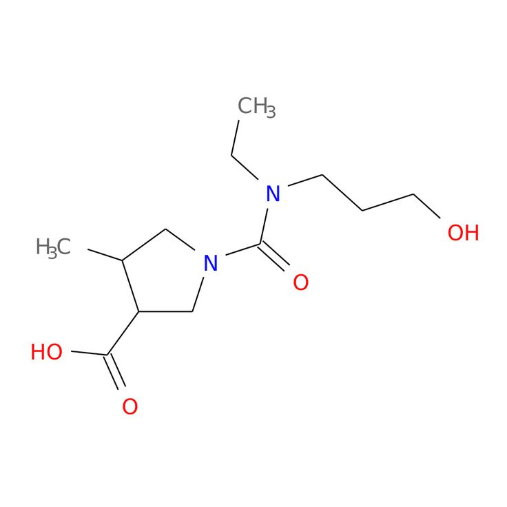 1-[ETHYL(3-HYDROXYPROPYL)CARBAMOYL]-4-METHYLPYRROLIDINE-3-CARBOXYLIC ACID is now  available at ACC Corporation