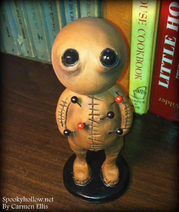 Hey, I found this really awesome Etsy listing at https://www.etsy.com/listing/196474833/halloween-horror-clay-voodoo-doll-made