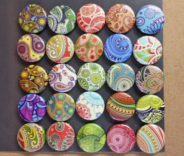 New Paisley buttons