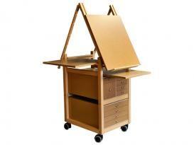 Chevalet peinture en bois   Meuble a tiroirs pour peindre et dessiner