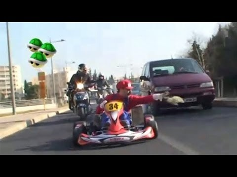Real life Mario Kart 2 with Remi Gaillard