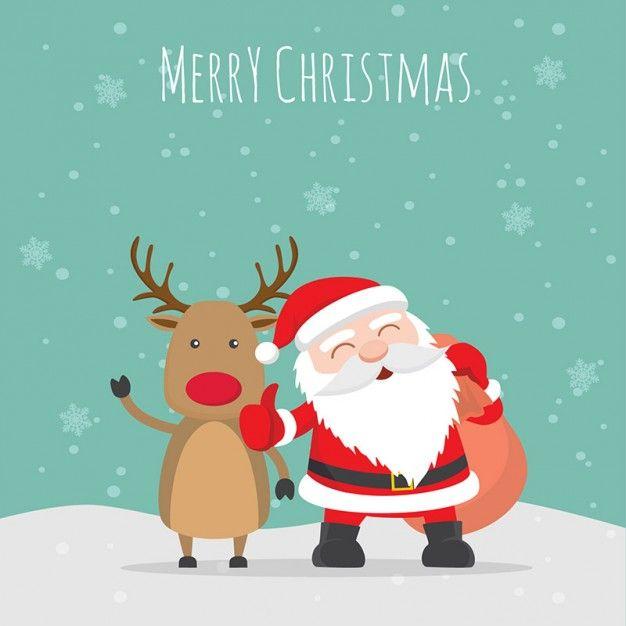 Ilustración de feliz navidad Vector Gratis