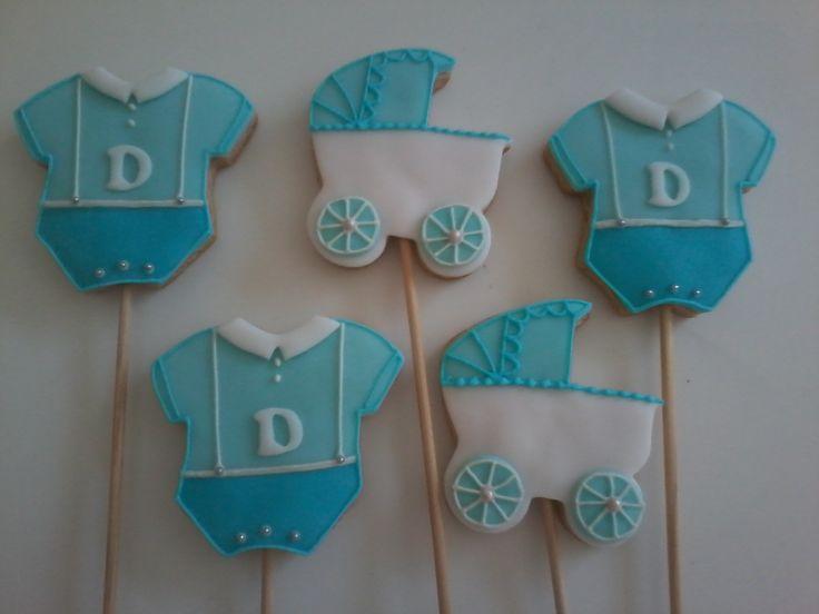biscoitos chá de bebê menino