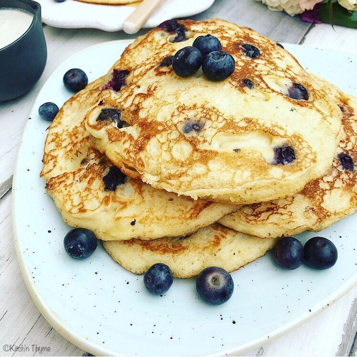 Lemon & Blueberry Pancakes | Kitch'n Thyme