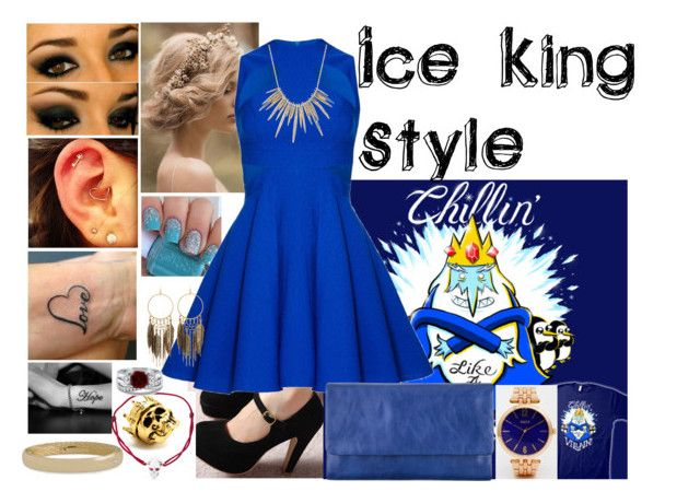 """""""Ice King Style"""" by blackest-raven ❤ liked on Polyvore featuring Villain, LeiVanKash, Status Anxiety, King Ice, Panacea, BERRICLE, Roberto Coin, Alexis Bittar and Oasis"""