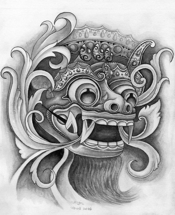 draw barong bali by unyil ubud 69 tattoo