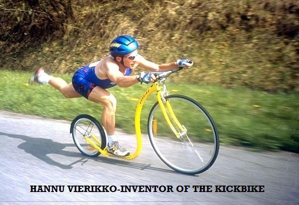 Hannu Vierikko 10 times world kicksled champion and inventor of the Kickbike.
