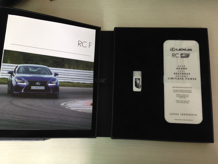 Invitation Book Lexus RC F Asia Premiere
