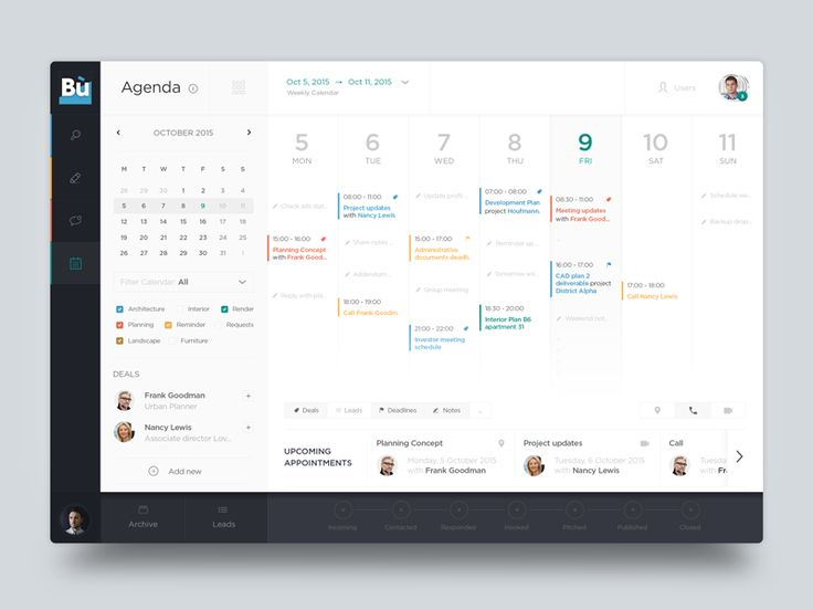 This shoot show the UI of a Calendar page I designed for a startup client and their social platform. This page is integrated with the user profile page shared few days ago here: https://dribbble.co...
