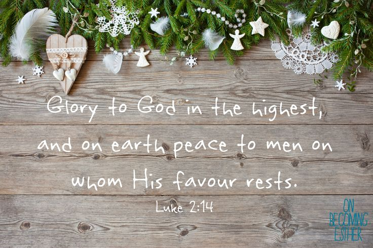 Luke 2:14, Peace on earth