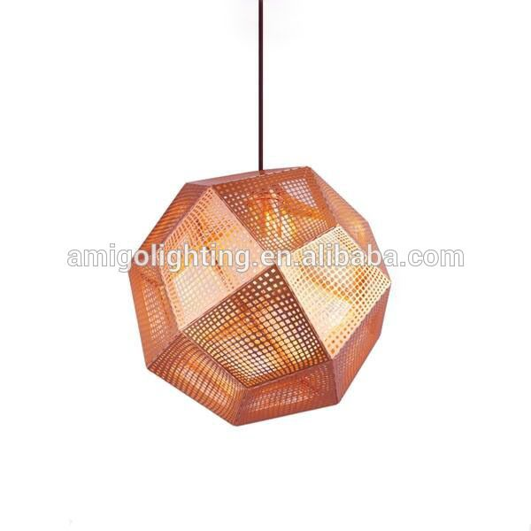decrative etch stainless steel copper shade modern pendant light YP170L copper