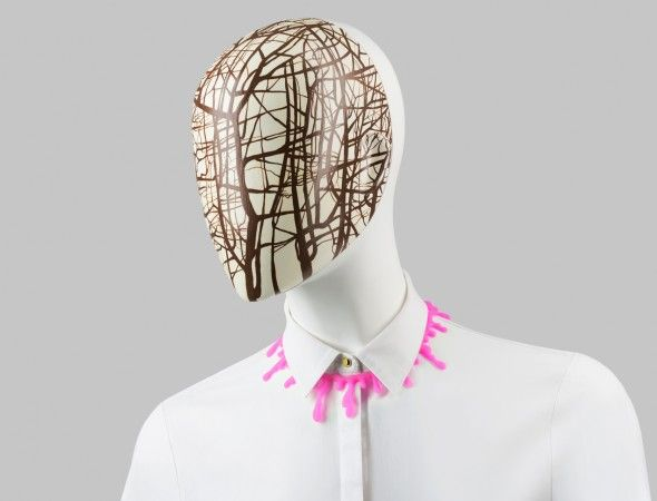 FUSION Collection by More Mannequins #FemaleMannequins #mask #trees #pattern #art #collar