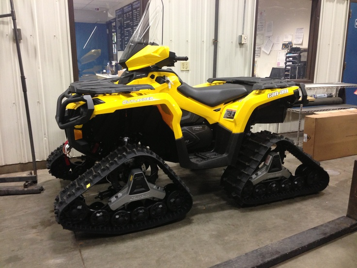 2013 CanAm Outlander XT 1000 with Tracks. Customers