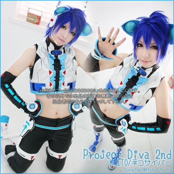 ★初音ミク-Project Diva 2nd- ★KAITO ネコサイバー衣装 SET : ★ H+ ★