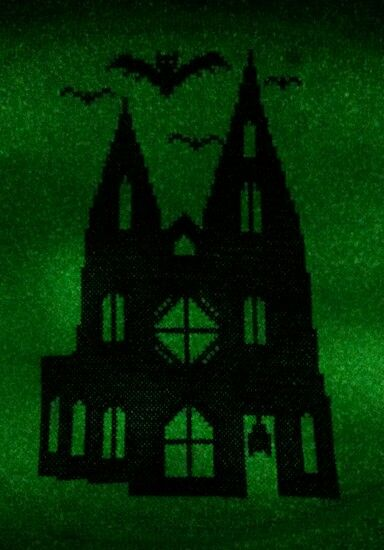 My design on glow in the dark aida :)