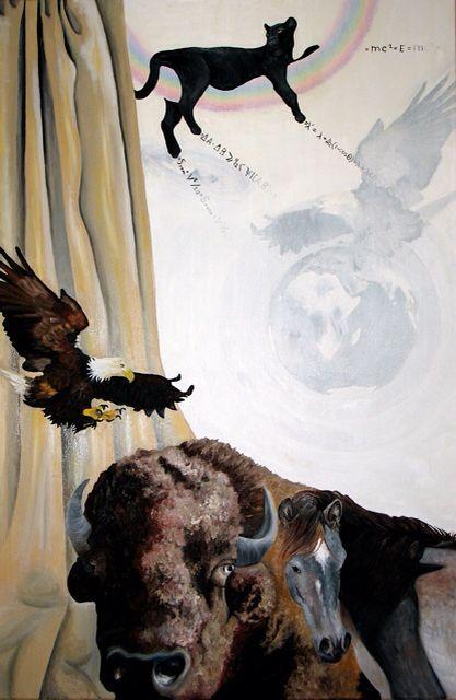 Knowing. Oil painting.  Weten. Olieverfschilderij.